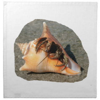 Hermit Crab on Sand Coming out of shell Cloth Napkins