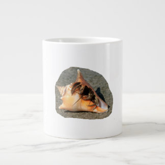 Hermit Crab on Sand Coming out of shell Jumbo Mugs