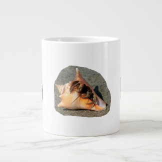 Hermit Crab on Sand Coming out of shell Extra Large Mug