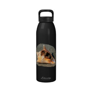 Hermit Crab on Sand Coming out of shell Drinking Bottle
