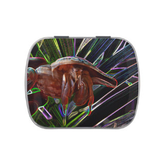 hermit crab out of shell sparkle back candy tin