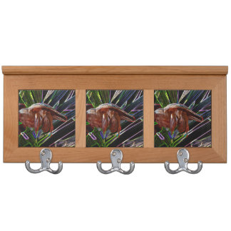 hermit crab out of shell sparkle back coat racks