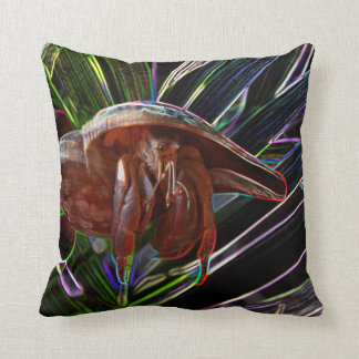 hermit crab out of shell sparkle back pillows