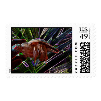 hermit crab out of shell sparkle back stamp