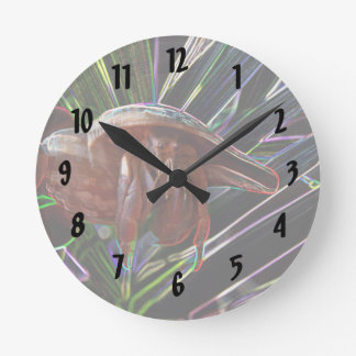 hermit crab out of shell sparkle back round clocks