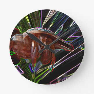 hermit crab out of shell sparkle back round wallclocks