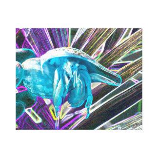 hermit crab sketch blue themed animal gallery wrap canvas