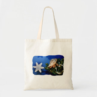 Hermit Crab Star Christmas Tree Design Canvas Bags
