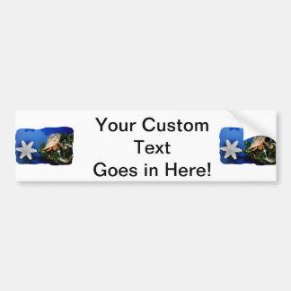 Hermit Crab Star Christmas Tree Design Bumper Stickers