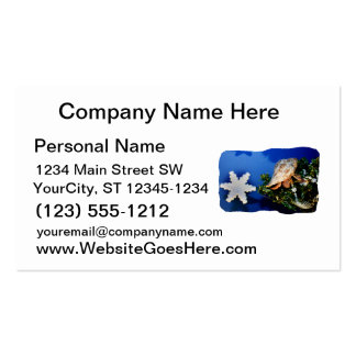 Hermit Crab Star Christmas Tree Design Business Card Templates