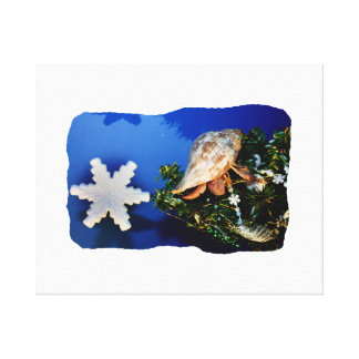 Hermit Crab Star Christmas Tree Design Canvas Prints