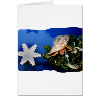 Hermit Crab Star Christmas Tree Design Greeting Card