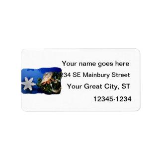Hermit Crab Star Christmas Tree Design Address Label