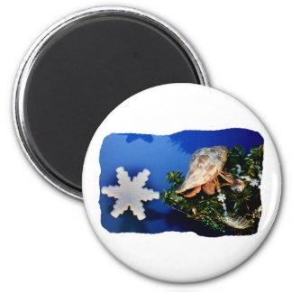 Hermit Crab Star Christmas Tree Design Fridge Magnets