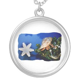Hermit Crab Star Christmas Tree Design Necklace