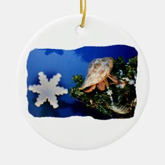 Hermit Crab Star Christmas Tree Design Christmas Ornaments