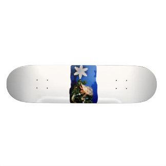 Hermit Crab Star Christmas Tree Design Skate Board