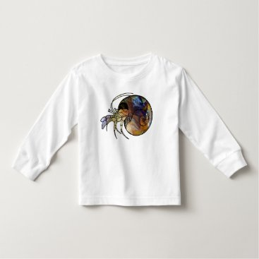 Beach Themed Hermit Crab Toddler T-shirt