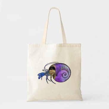 Beach Themed Hermit Crab Tote Bag