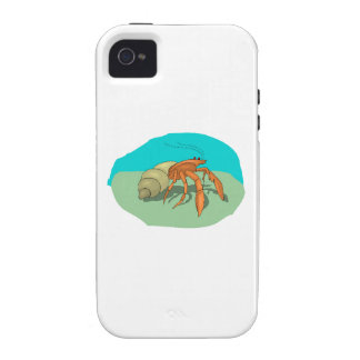Hermit Crab Vibe iPhone 4 Covers