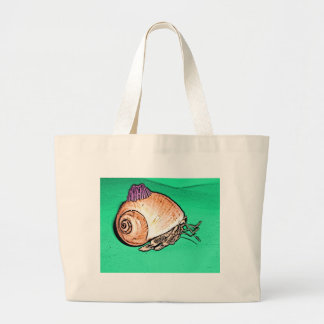 Hermit Crab with a Barnacle Shell Hat Canvas Bag