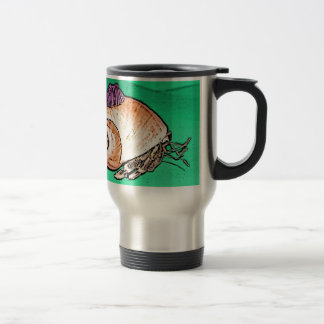 Hermit Crab with a Barnacle Shell Hat Travel Mug