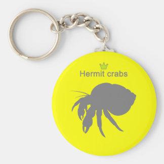Hermit crabs g5 basic round button keychain