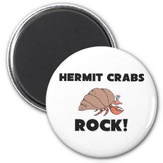 Hermit Crabs Rock Fridge Magnets