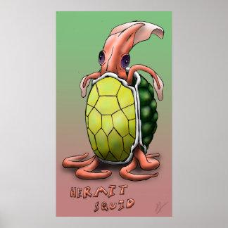 Hermit Squid - Tortoise Print