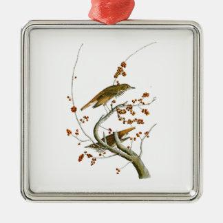Hermit Thrush John James Audubon Birds of America Metal Ornament