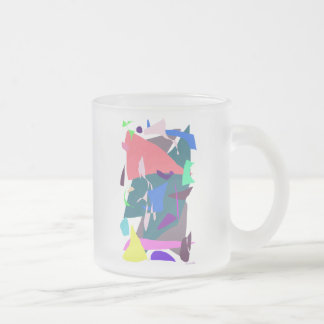 Hermitage 10 Oz Frosted Glass Coffee Mug