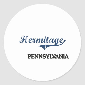 Hermitage Pennsylvania City Classic Stickers