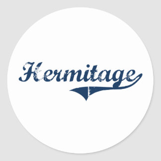Hermitage Pennsylvania Classic Design Round Sticker