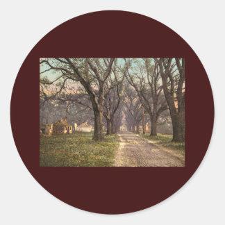 Hermitage plantation Savannah Georgia Round Sticker
