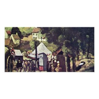 Hermitage Pontoise By Paul Cézanne Best Quality Photo Card