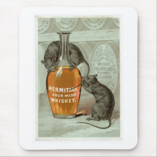 Hermitage Sour Mash Vintage Drink Ad Art Mouse Pad