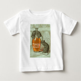 Hermitage Sour Mash Whiskey ad with two rats Baby T-Shirt