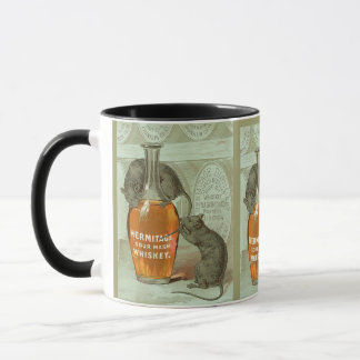 Hermitage Sour Mash Whiskey ad with two rats Mug