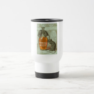 Hermitage Sour Mash Whiskey ad with two rats Travel Mug