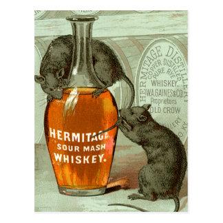 Hermitage Sour Mash Whiskey Postcard