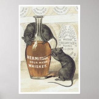 Hermitage Sour Mash Whiskey Poster