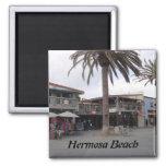 Hermosa Beach, California 2 Inch Square Magnet