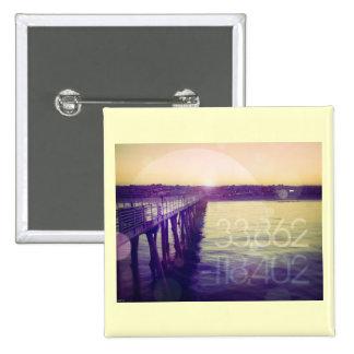 Hermosa Beach, California Pinback Button