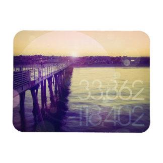 Hermosa Beach, California Rectangular Photo Magnet