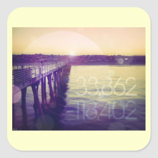 Hermosa Beach, California Square Sticker