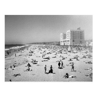 Hermosa Beach, Los Angeles, 1951 Vintage Postcard