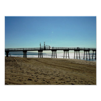 Hermosa Beach Pier Coast Poster