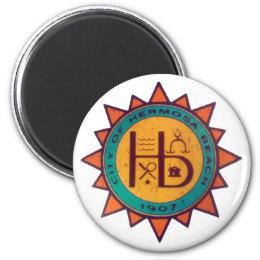 Hermosa Beach Seal Magnet