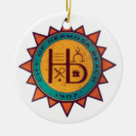 Hermosa Beach Seal Double-Sided Ceramic Round Christmas Ornament