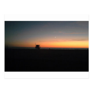 hermosa beach sunset postcard